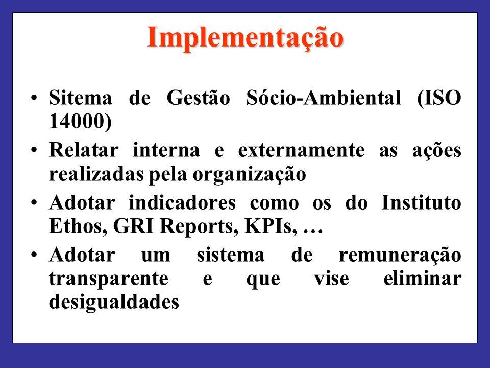 Implementação Sitema de Gestão Sócio-Ambiental (ISO 14000)
