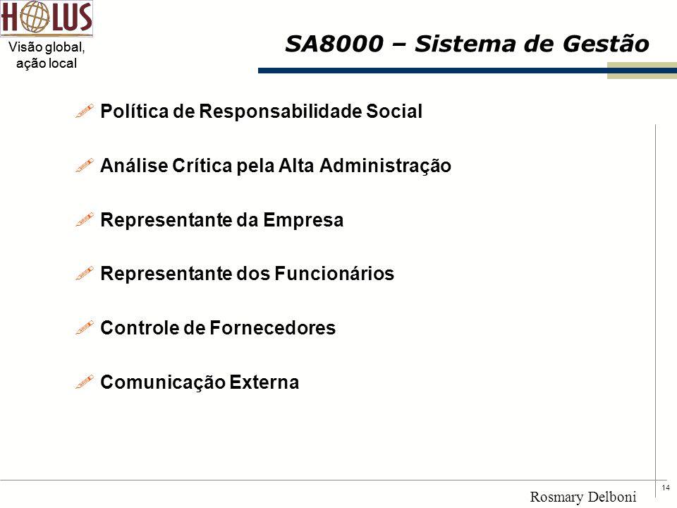 SA8000 – Sistema de Gestão Política de Responsabilidade Social