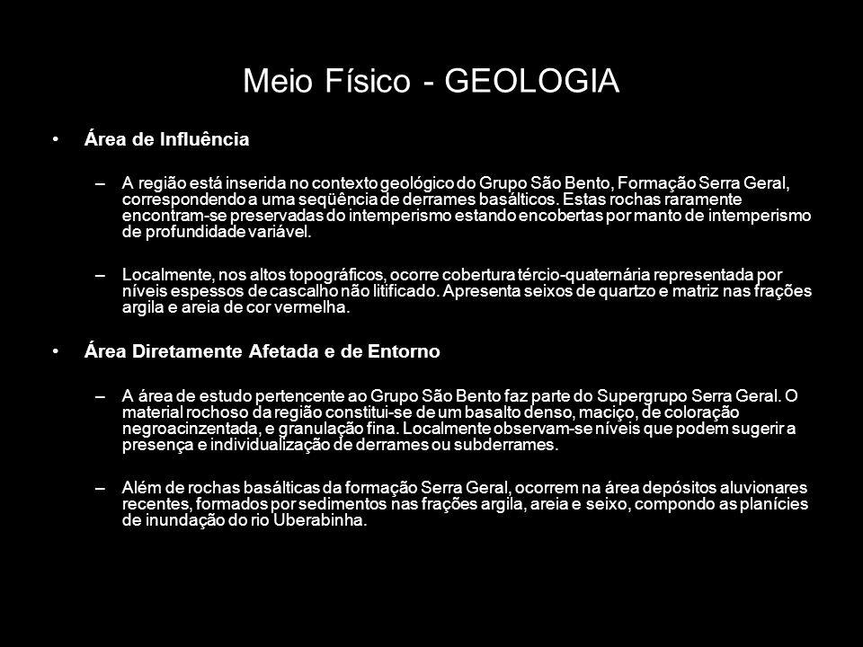 Meio Físico - GEOLOGIA Área de Influência