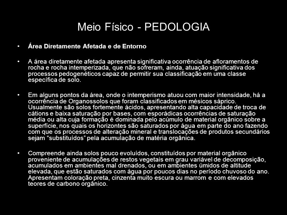 Meio Físico - PEDOLOGIA