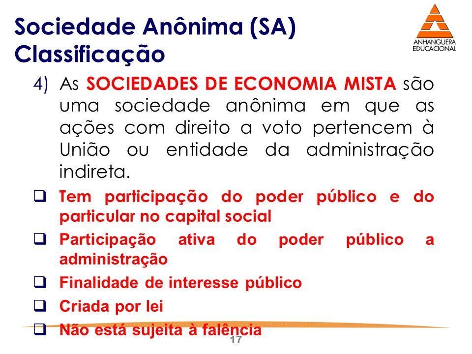Sociedade Anônima (SA) Classificação