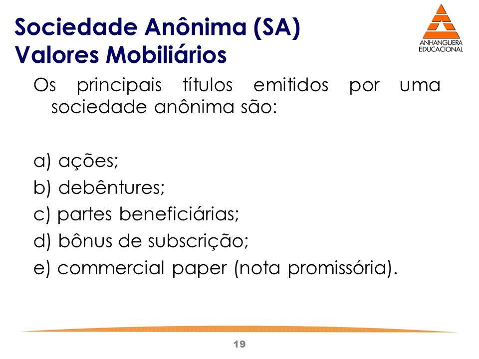 Sociedade Anônima (SA) Valores Mobiliários