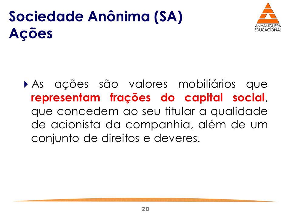 Sociedade Anônima (SA) Ações