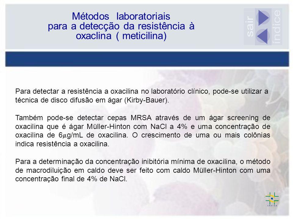 Métodos laboratoriais para a detecção da resistência à oxaclina ( meticilina)