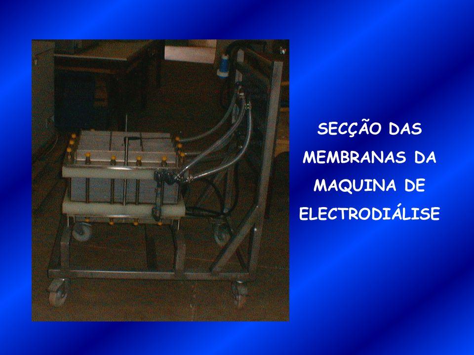 SECÇÃO DAS MEMBRANAS DA MAQUINA DE ELECTRODIÁLISE