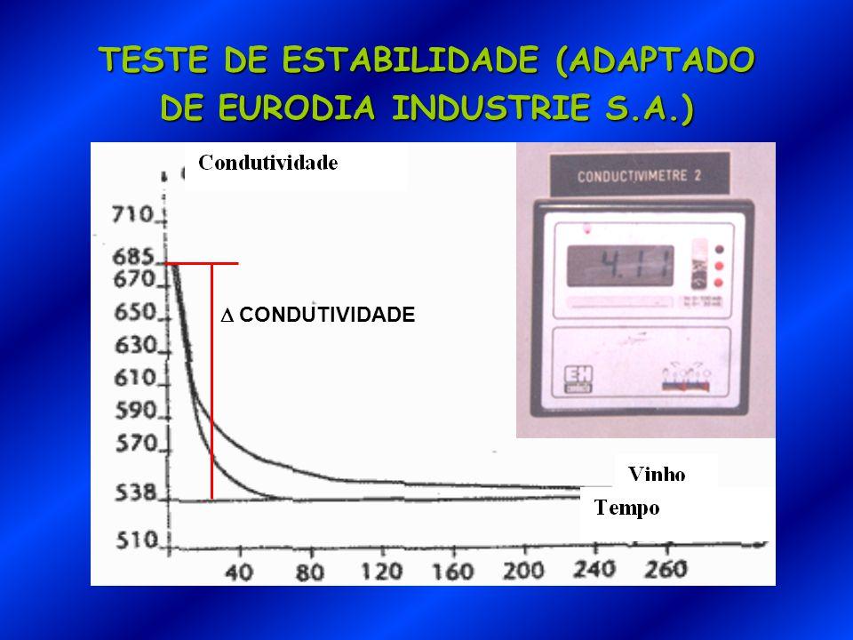 TESTE DE ESTABILIDADE (ADAPTADO DE EURODIA INDUSTRIE S.A.)