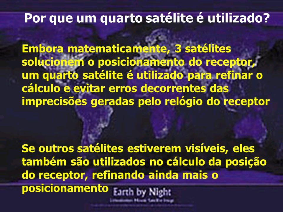 Por que um quarto satélite é utilizado