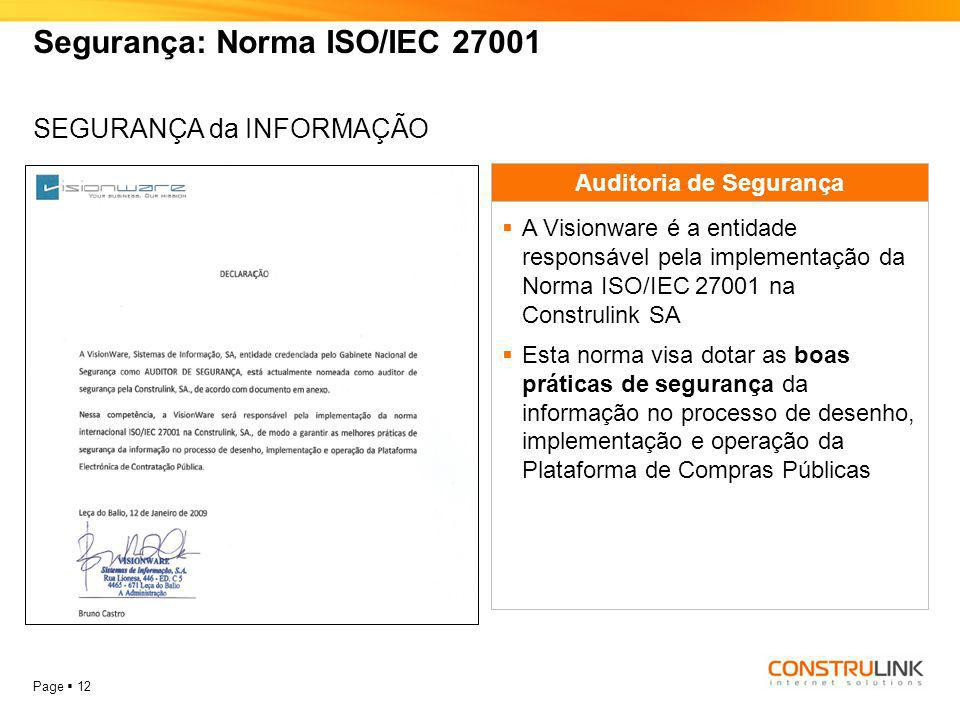 Segurança: Norma ISO/IEC 27001