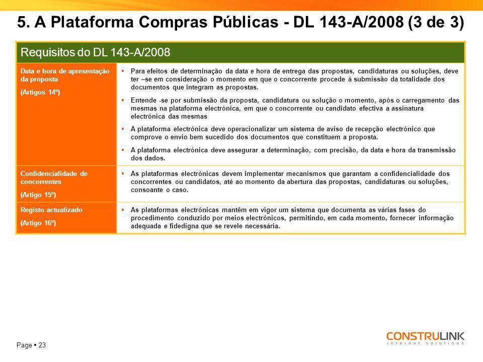 5. A Plataforma Compras Públicas - DL 143-A/2008 (3 de 3)
