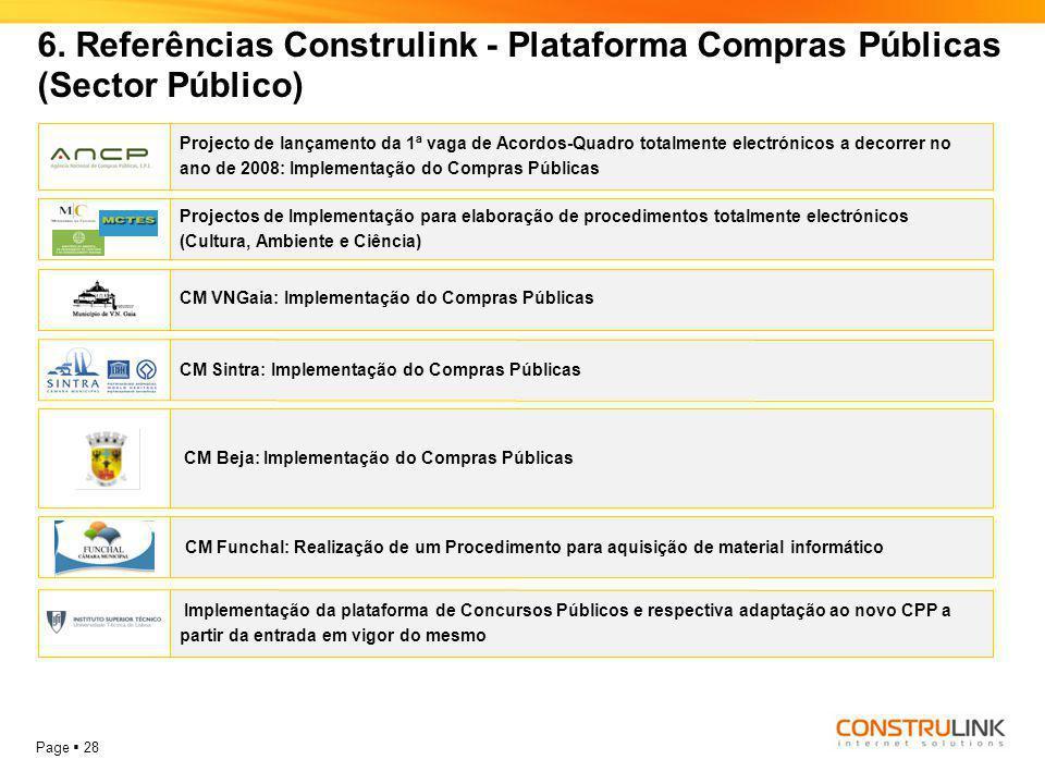 6. Referências Construlink - Plataforma Compras Públicas (Sector Público)