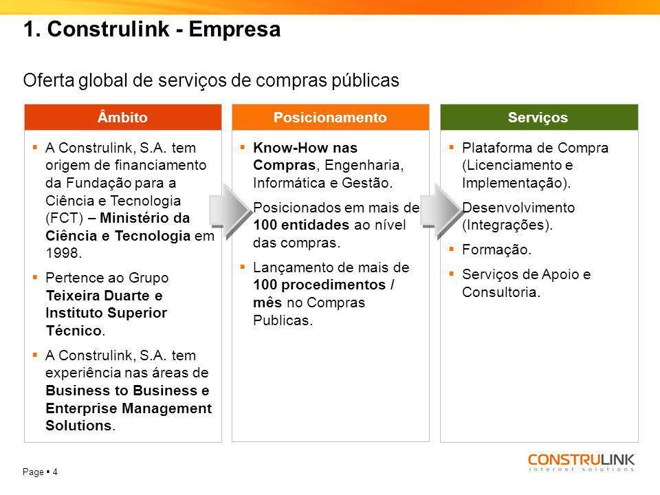 1. Construlink - Empresa Oferta global de serviços de compras públicas