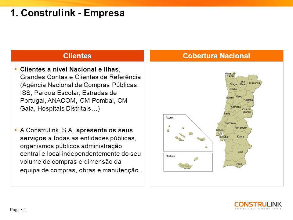 1. Construlink - Empresa Clientes Cobertura Nacional