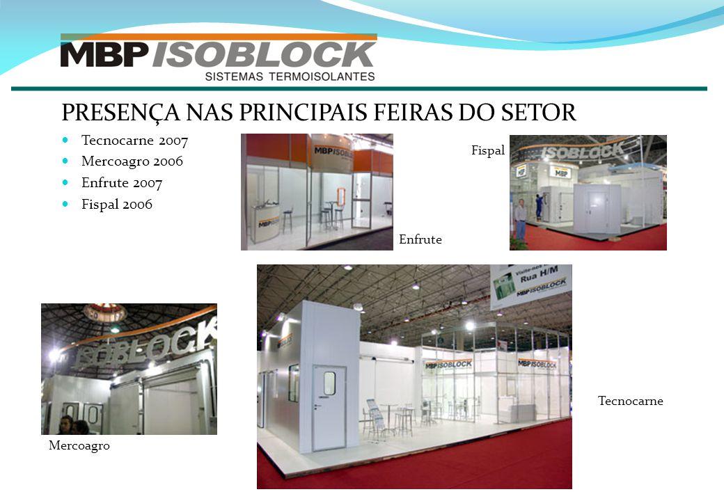 PRESENÇA NAS PRINCIPAIS FEIRAS DO SETOR