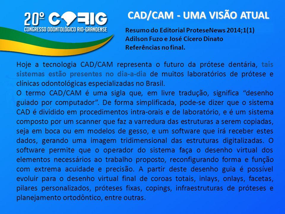 CAD/CAM - UMA VISÃO ATUAL