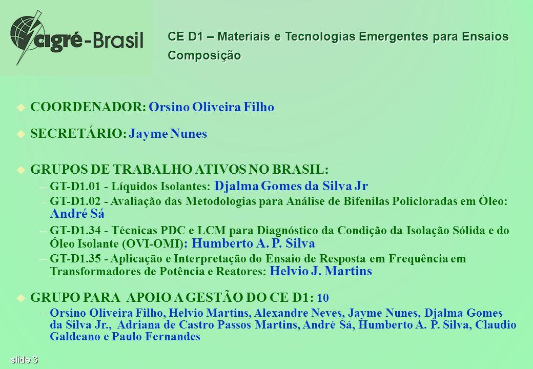 COORDENADOR: Orsino Oliveira Filho SECRETÁRIO: Jayme Nunes