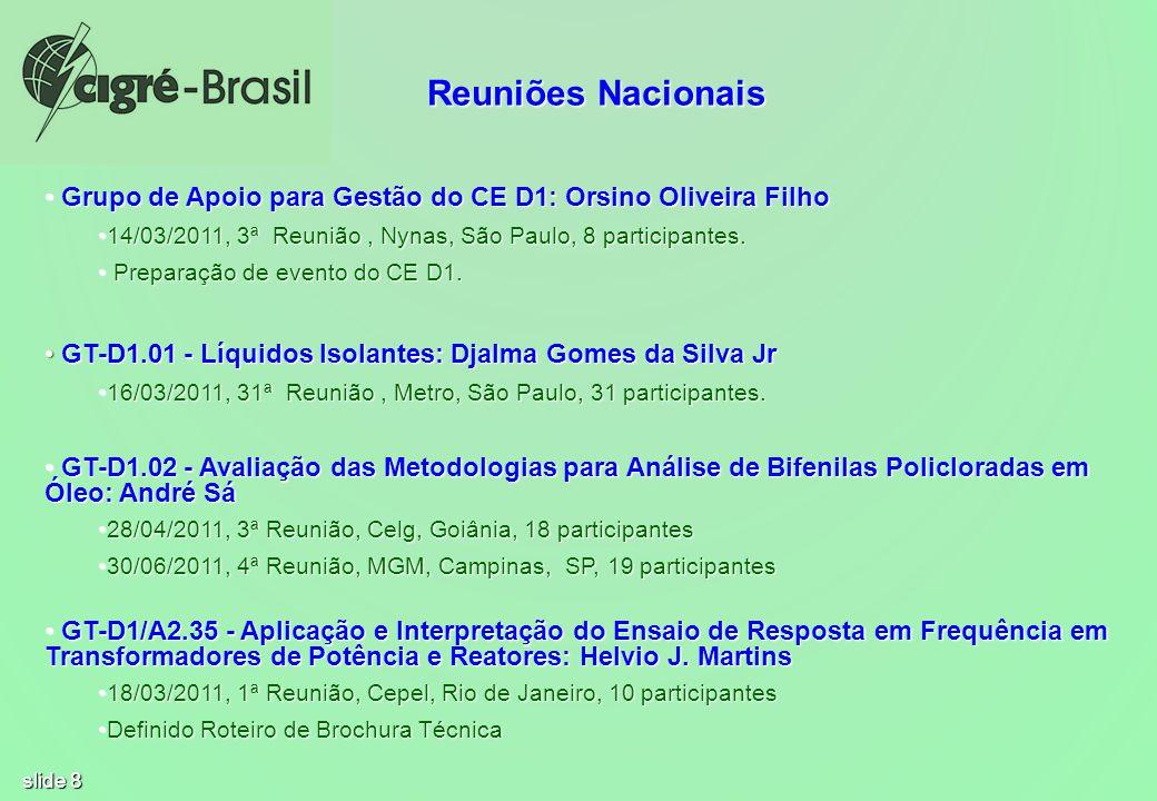 Reuniões Nacionais Grupo de Apoio para Gestão do CE D1: Orsino Oliveira Filho. 14/03/2011, 3ª Reunião , Nynas, São Paulo, 8 participantes.