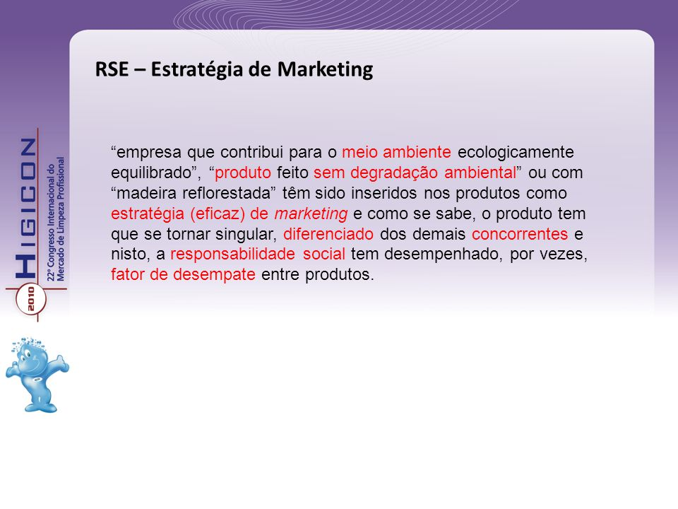RSE – Estratégia de Marketing