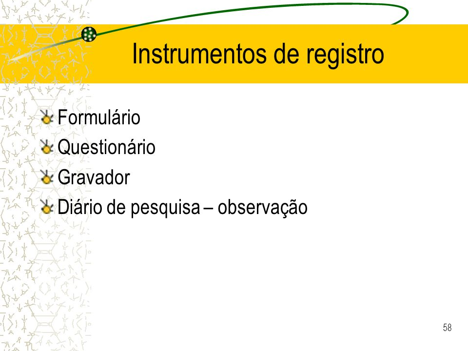Instrumentos de registro