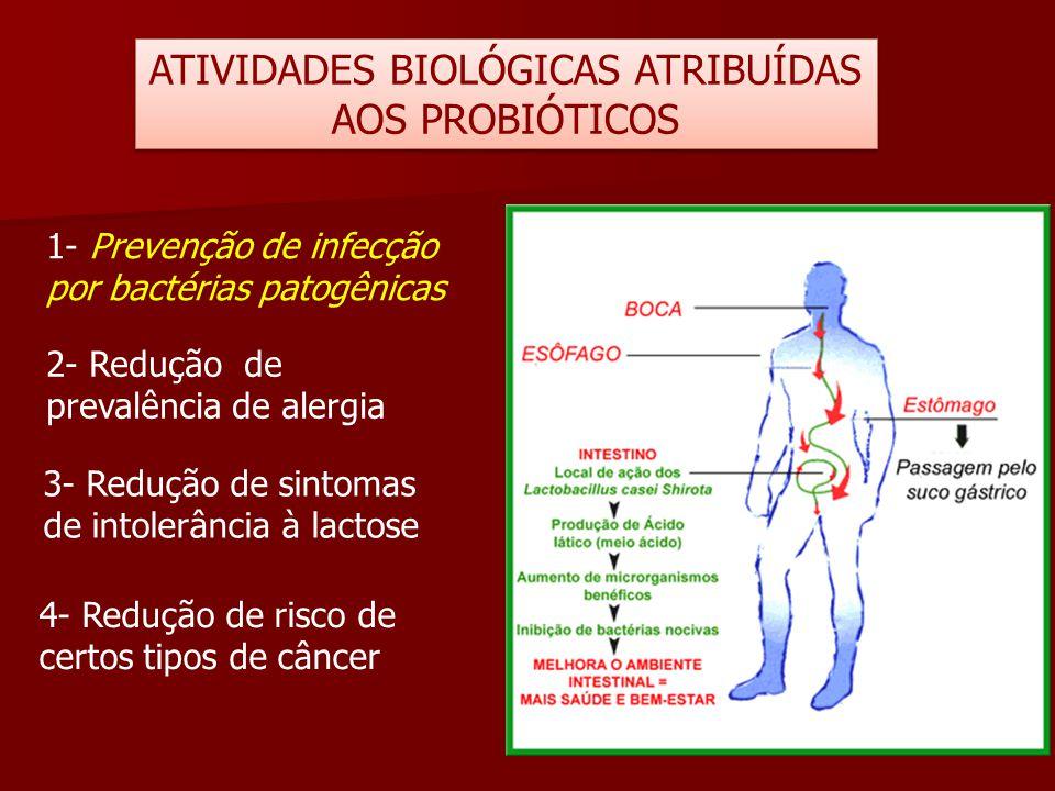 ATIVIDADES BIOLÓGICAS ATRIBUÍDAS AOS PROBIÓTICOS