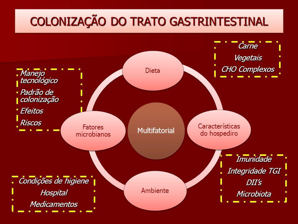 COLONIZAÇÃO DO TRATO GASTRINTESTINAL