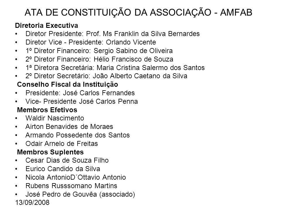 ATA DE CONSTITUIÇÃO DA ASSOCIAÇÃO - AMFAB