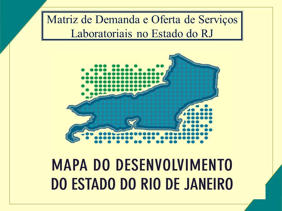 Matriz de Demanda e Oferta de Serviços Laboratoriais no Estado do RJ