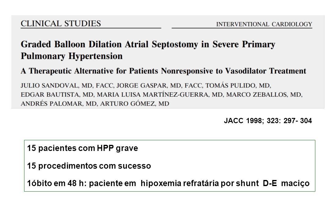 15 pacientes com HPP grave 15 procedimentos com sucesso