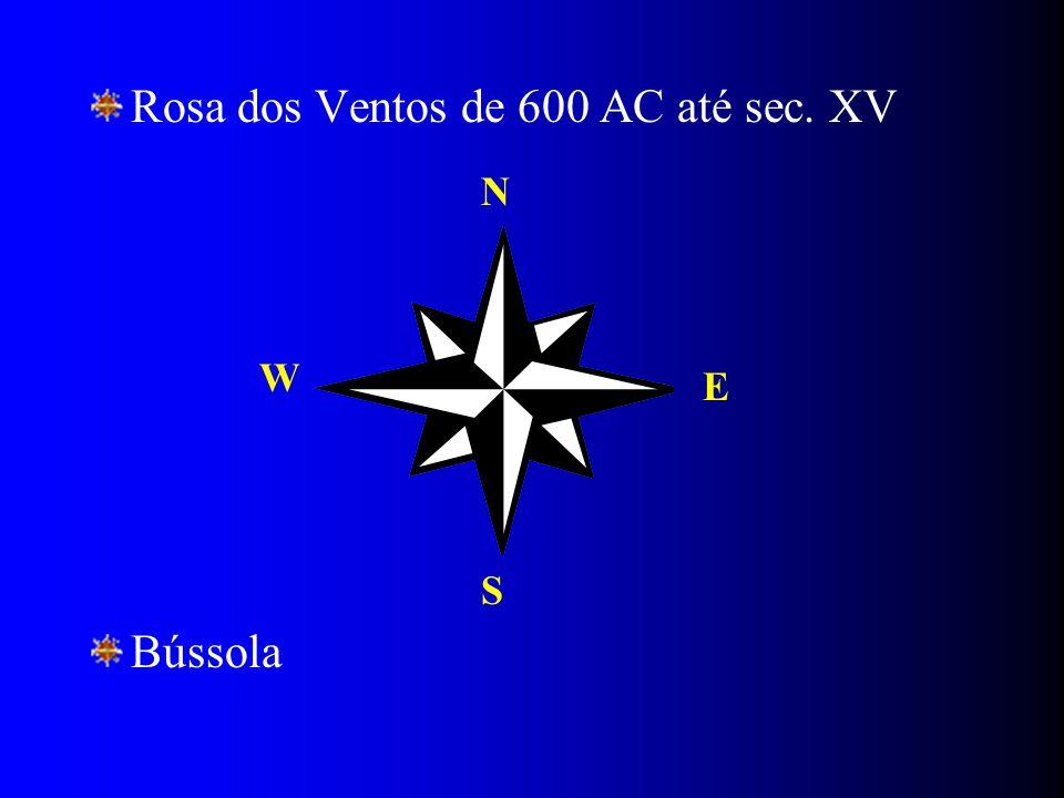 Rosa dos Ventos de 600 AC até sec. XV