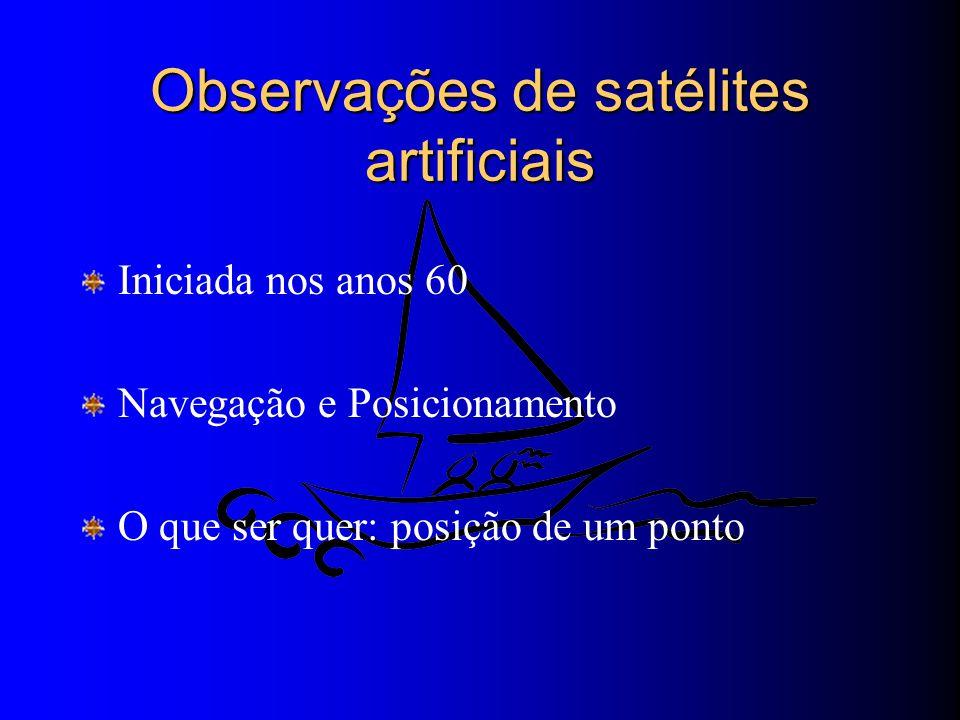 Observações de satélites artificiais