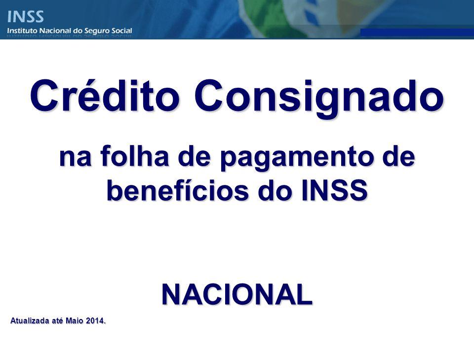 na folha de pagamento de benefícios do INSS