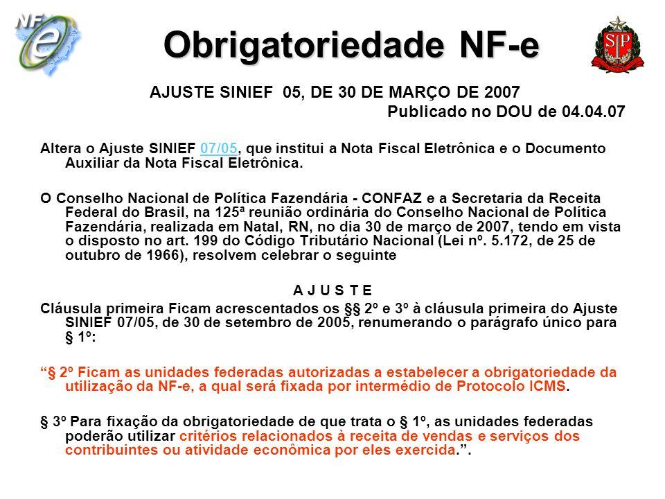 AJUSTE SINIEF 05, DE 30 DE MARÇO DE 2007