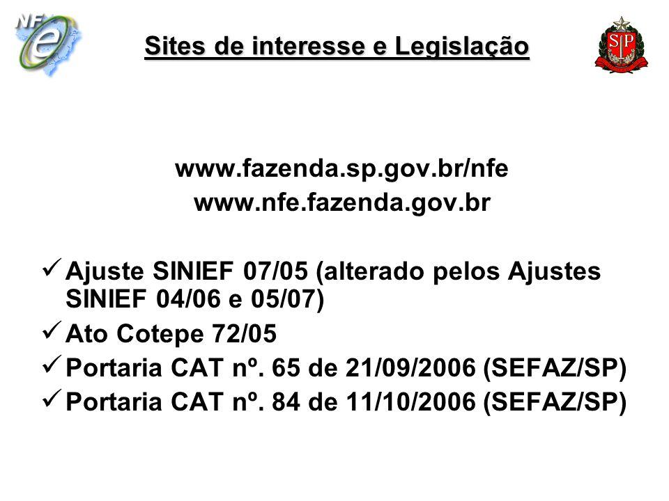 Sites de interesse e Legislação