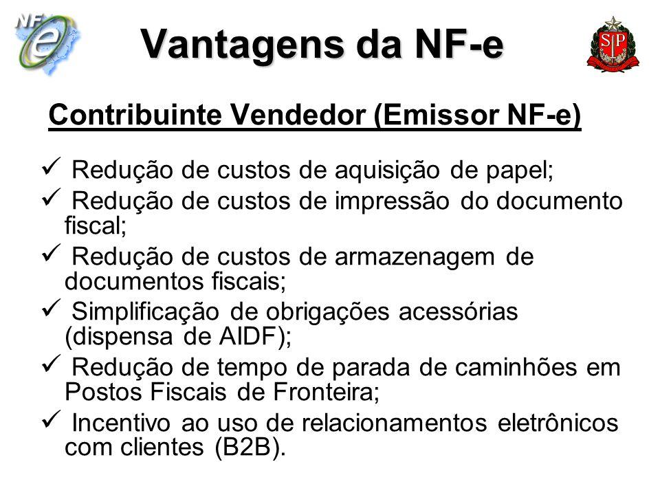 Vantagens da NF-e Contribuinte Vendedor (Emissor NF-e)
