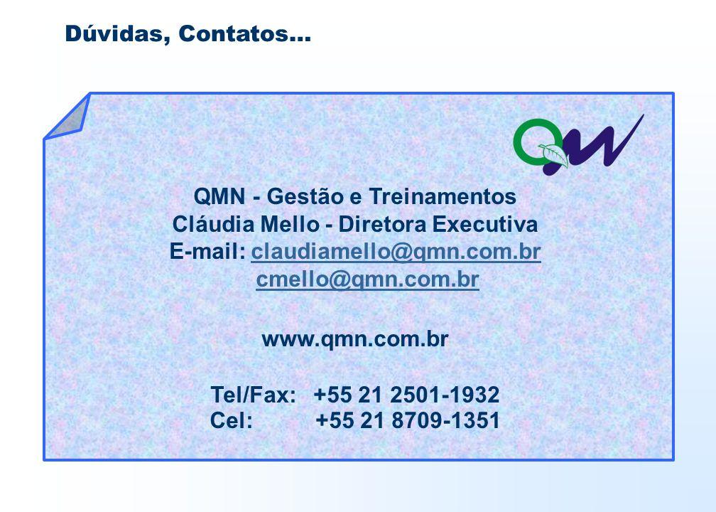 QMN - Gestão e Treinamentos Cláudia Mello - Diretora Executiva