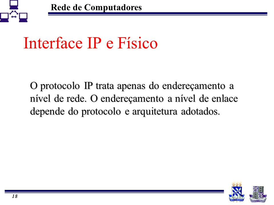 Interface IP e Físico