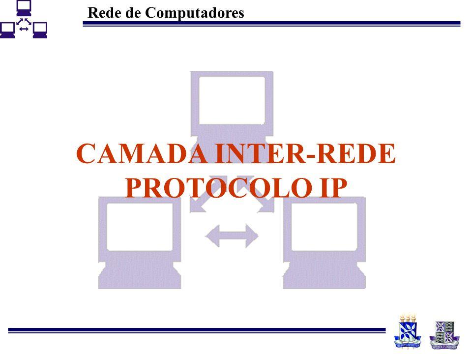 CAMADA INTER-REDE PROTOCOLO IP