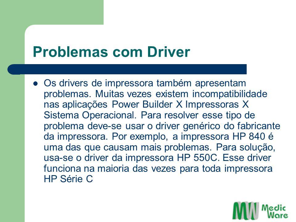 Problemas com Driver