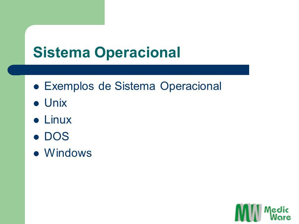Sistema Operacional Exemplos de Sistema Operacional Unix Linux DOS