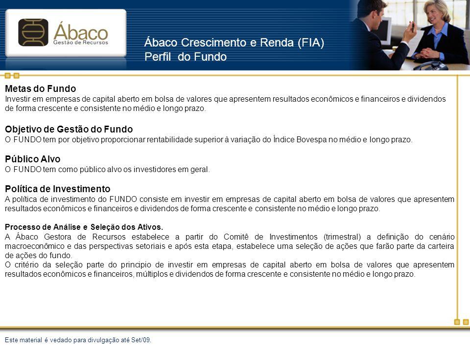Ábaco Crescimento e Renda (FIA) Perfil do Fundo