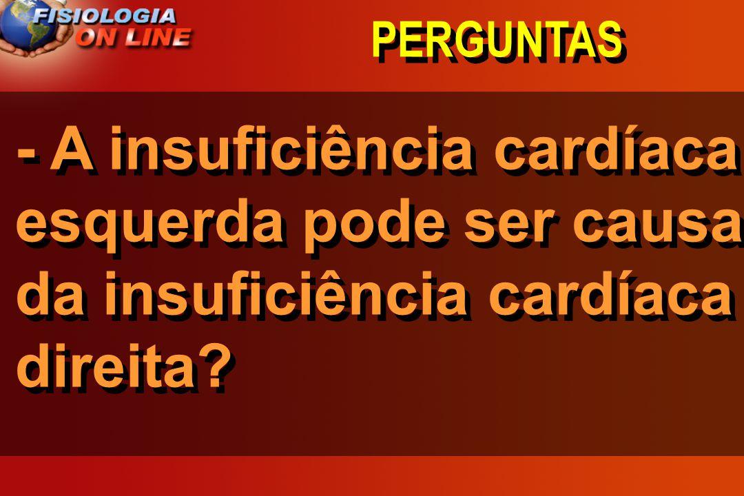 PERGUNTAS - A insuficiência cardíaca esquerda pode ser causa da insuficiência cardíaca direita