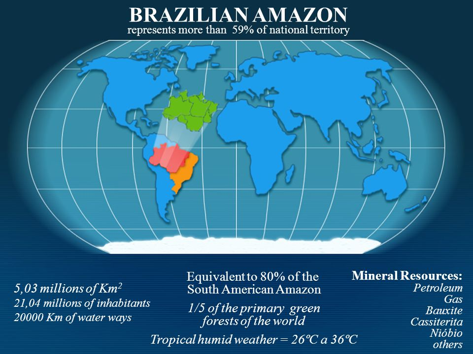 BRAZILIAN AMAZON Equivalent to 80% of the Mineral Resources:
