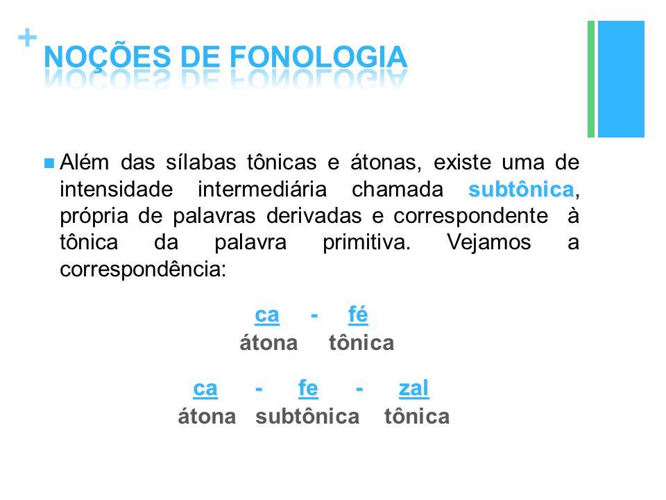 NOÇÕES DE FONOLOGIA