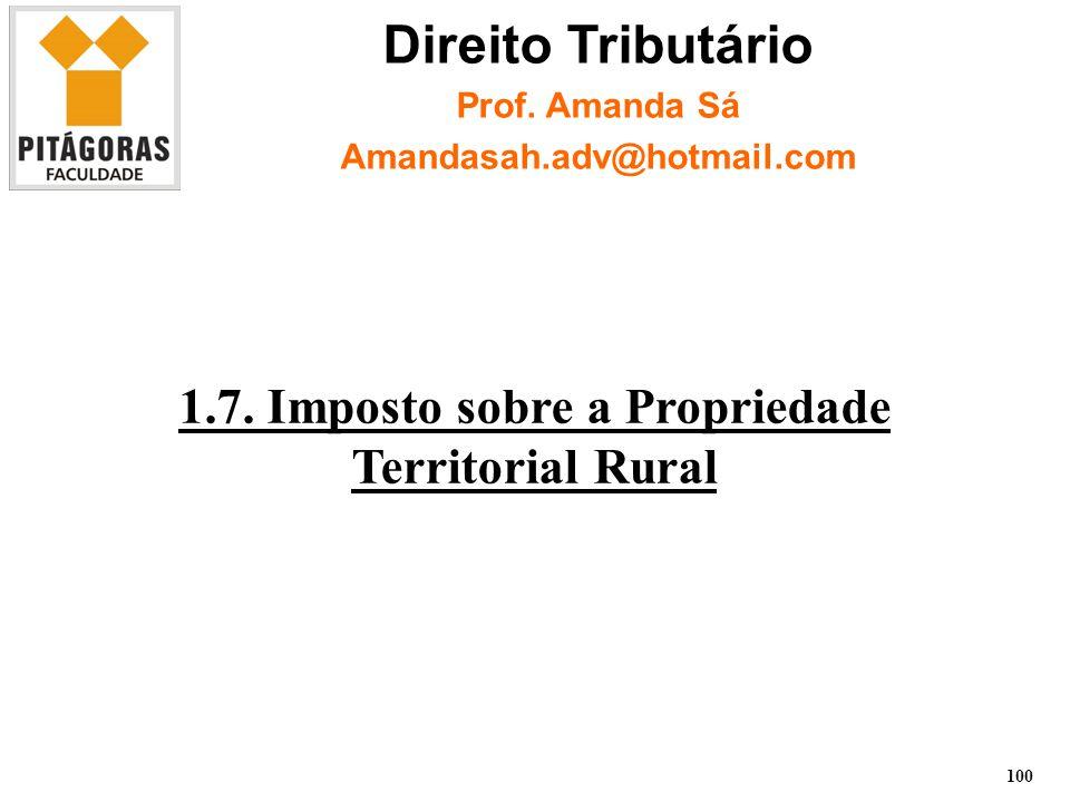 1.7. Imposto sobre a Propriedade Territorial Rural