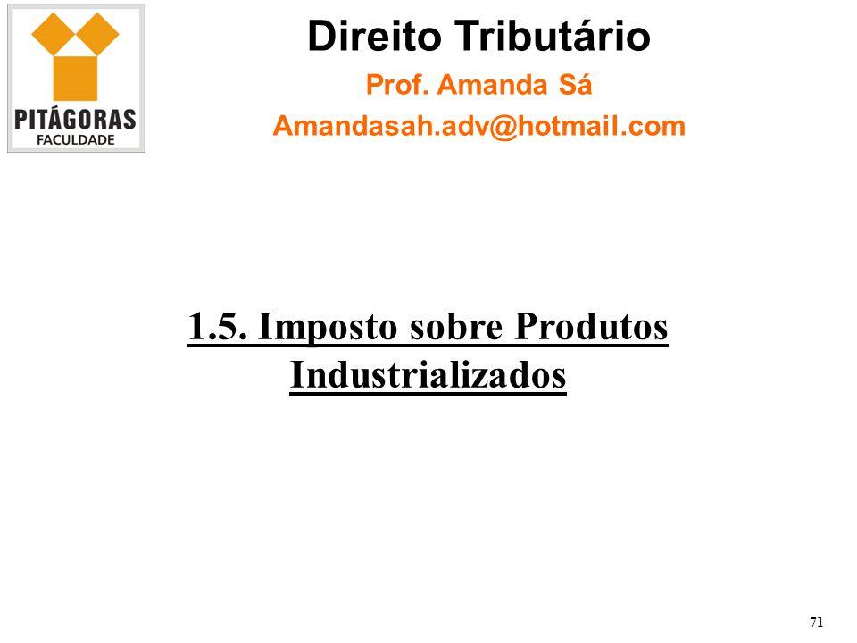 1.5. Imposto sobre Produtos Industrializados