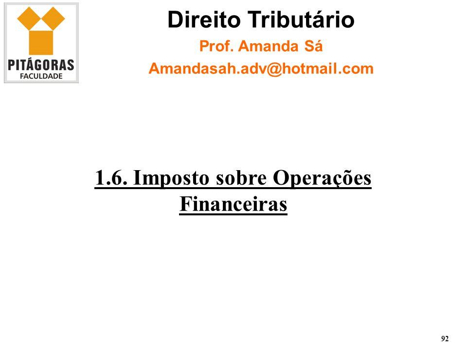 1.6. Imposto sobre Operações Financeiras