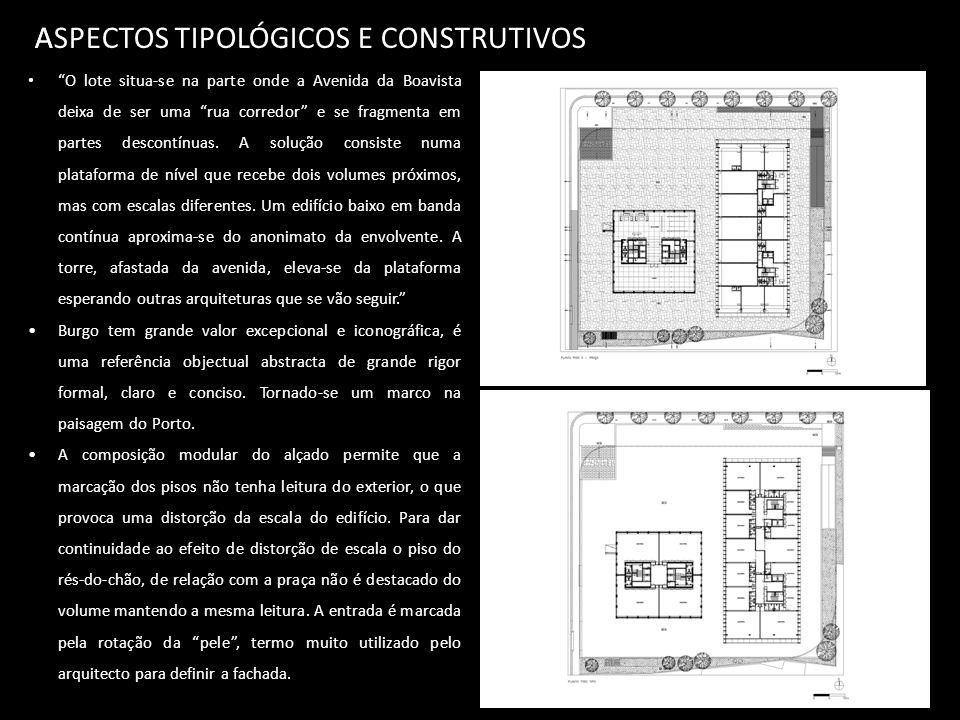 ASPECTOS TIPOLÓGICOS E CONSTRUTIVOS A