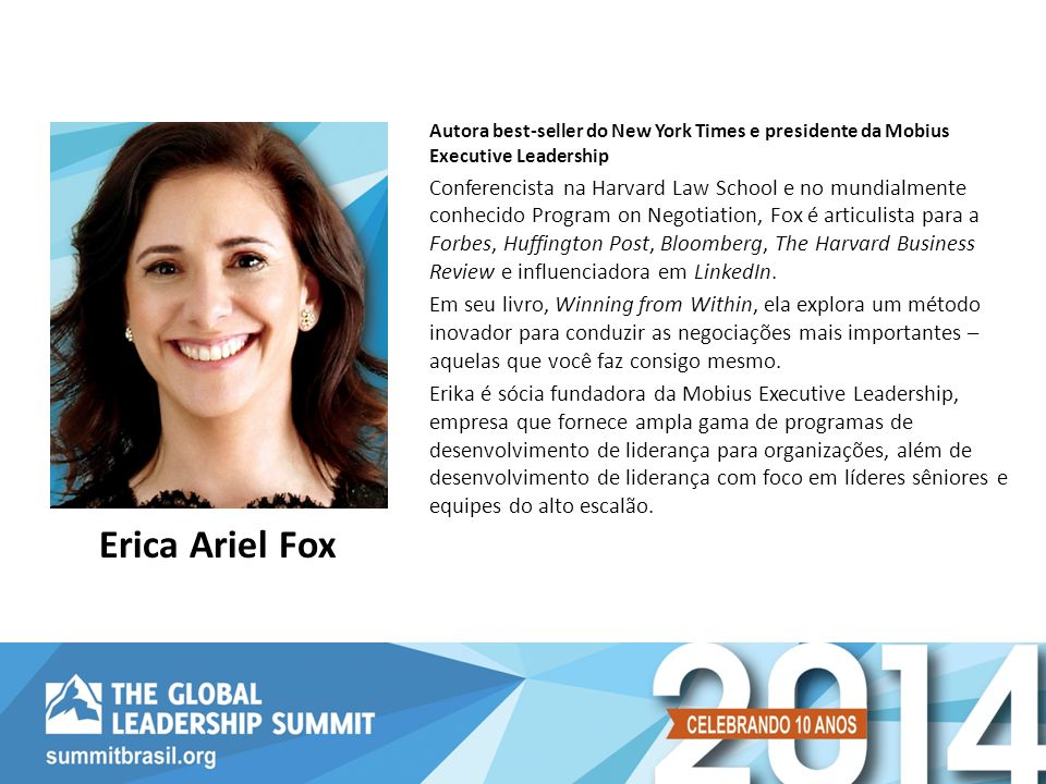 Autora best-seller do New York Times e presidente da Mobius Executive Leadership