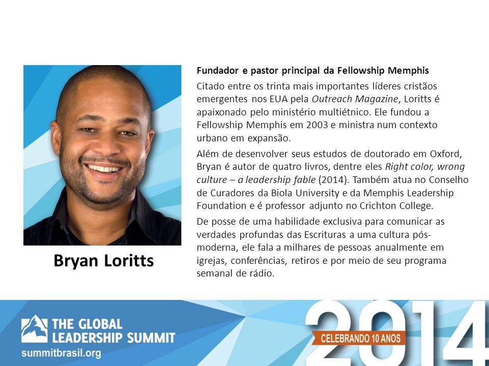 Bryan Loritts Fundador e pastor principal da Fellowship Memphis
