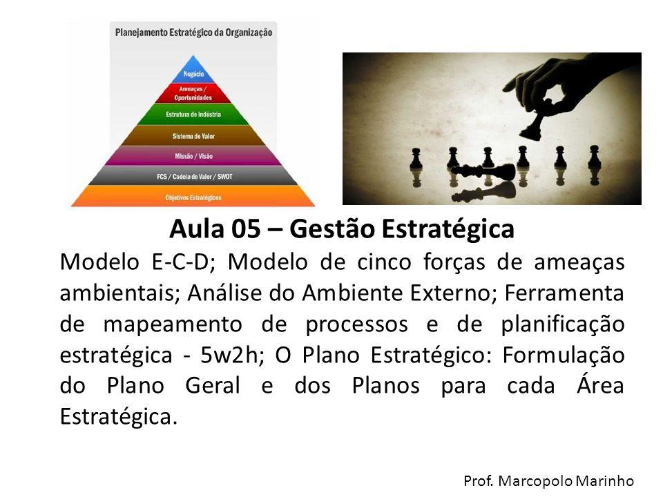 Aula 05 – Gestão Estratégica