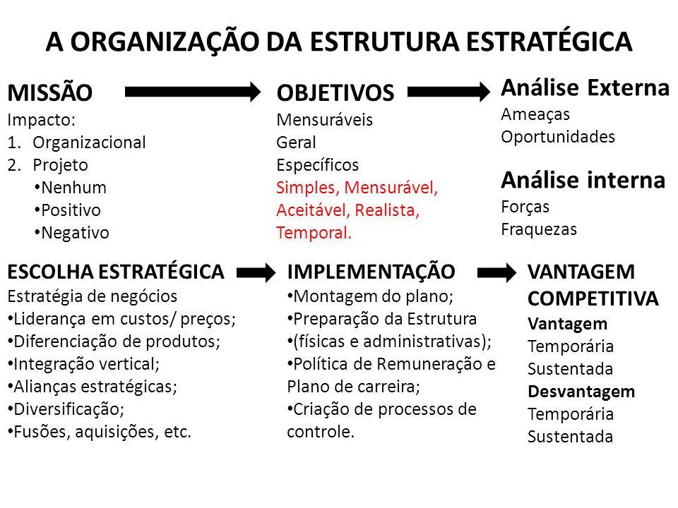 A ORGANIZAÇÃO DA ESTRUTURA ESTRATÉGICA